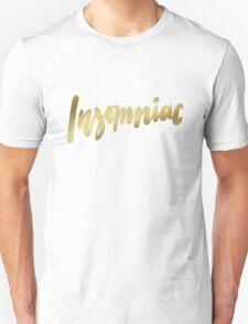 Insomniac brush lettering Unisex T-Shirt