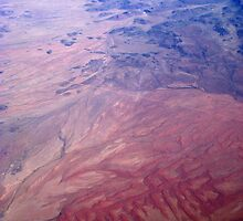 Aerial, Windhoek to Cape Town (3) by Margaret  Hyde