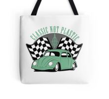 VW Beetle Classic Not Plastic Design in green Tote Bag