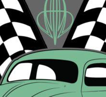 VW Beetle Classic Not Plastic Design in green Sticker