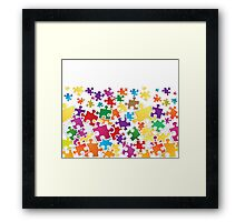 Life is like a puzzle game Framed Print