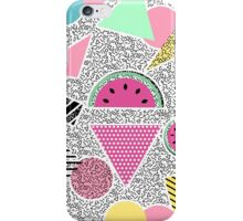 Modern geometric pattern Memphis patterns inspired iPhone Case/Skin
