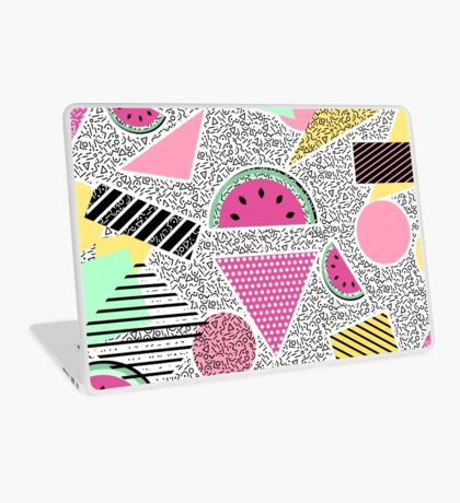 Modern geometric pattern Memphis patterns inspired Laptop Skin