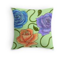 Roses of Color Throw Pillow