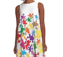 Life is like a puzzle game A-Line Dress