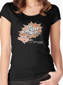 Pork Chop Express - Distressed Mocha Variant Women's Fitted Scoop T-Shirt