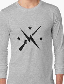 Minutemen Logo (black) - Fallout 4 Long Sleeve T-Shirt