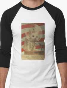 Mr. Pebbles - The first cat in space Men's Baseball ¾ T-Shirt