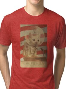 Mr. Pebbles - The first cat in space Tri-blend T-Shirt