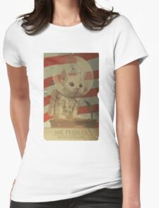 Mr. Pebbles - The first cat in space Womens Fitted T-Shirt