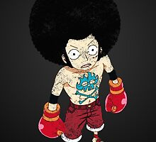 Luffy Boxer Grunge by PioMateo