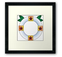 Life Ring Old School Tattoo Framed Print