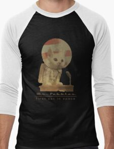 Mr. Pebbles - The first cat in space! Men's Baseball ¾ T-Shirt