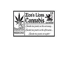 Zion's Lions Cannabis Photographic Print