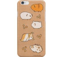 Hand Drawn Guinea-Pigs on Brown Paper iPhone Case/Skin