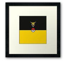 Yellow Team Pokemon Go Framed Print