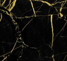 Marble - Golden Black Sticker