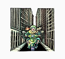 Woman on Vespa in New York Unisex T-Shirt