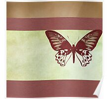 Butterfly flying over book cover Poster
