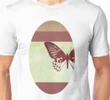Butterfly flying over book cover Unisex T-Shirt