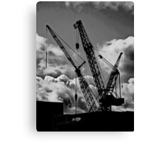 Playing Meccano  Canvas Print