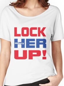 HILLARY LOCK HER UP Women's Relaxed Fit T-Shirt