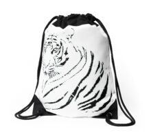 Serene Tiger Drawstring Bag