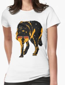 A Shady Wolf Womens Fitted T-Shirt