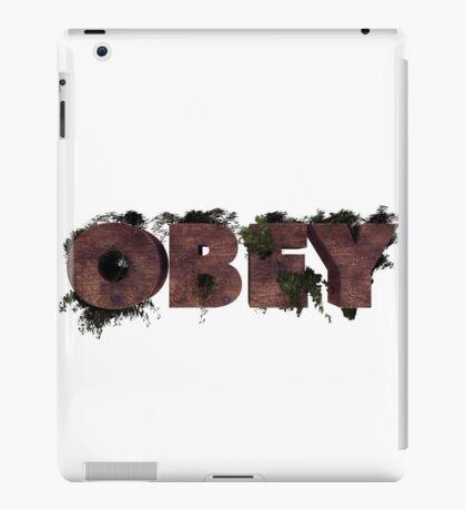 Wooden Obey iPad Case/Skin