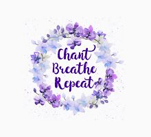 Chant Breathe Repeat Womens Fitted T-Shirt