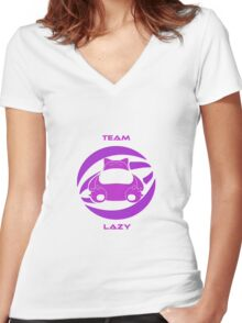 Team Snorlax Women's Fitted V-Neck T-Shirt