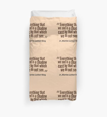 Martin Luther King - Quote Duvet Cover