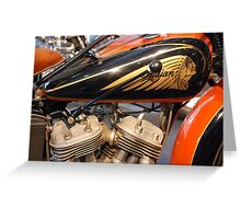 'V-Twin' 1930s Greeting Card