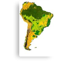 Physical South America Canvas Print