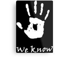 We Know, Dark Brotherhood (TES Skyrim) Metal Print