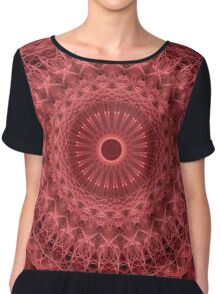 Mandala in red and pink colors Chiffon Top