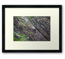 Layers of Tilted Stone Framed Print