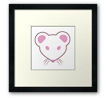 Pink Eyed White Mouse Framed Print