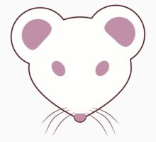 Pink Eyed White Mouse One Piece - Short Sleeve