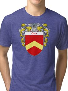 Orta Coat of Arms/Family Crest Tri-blend T-Shirt