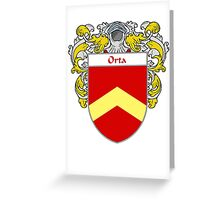 Orta Coat of Arms/Family Crest Greeting Card