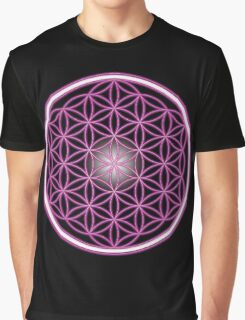 The Pink Flower of Life  Graphic T-Shirt