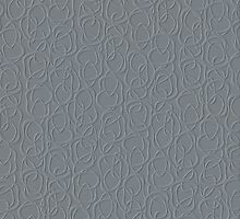 Interlocking - Understated Dove Gray on Slate - Pattern by Menega  Sabidussi