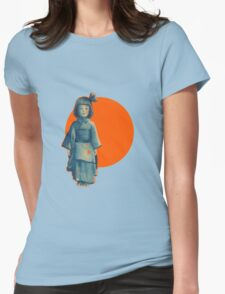 little girl in blue Womens Fitted T-Shirt