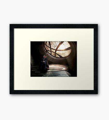 Doctor Strange edit by lichtblickpink Framed Print