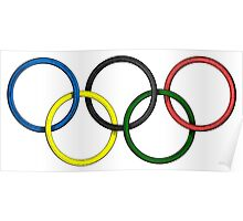 Olympic Rings Poster
