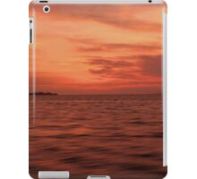 Land on Sea when sunset iPad Case/Skin