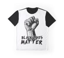 Black Lives Matter Race Unity Say No Racism T-shirt Graphic T-Shirt