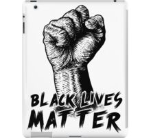 Black Lives Matter Race Unity Say No Racism T-shirt iPad Case/Skin