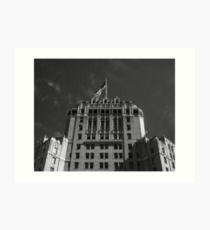 Hotel & Flag Art Print
